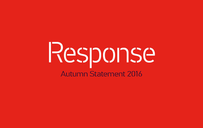 Autumn Statement 2016 - Response - text image